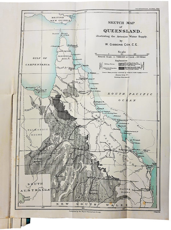 Map Of Australia Great Artesian Basin.Details About 1902 Australia Artesian Water Supply With Map Irrigation Sustainability 05