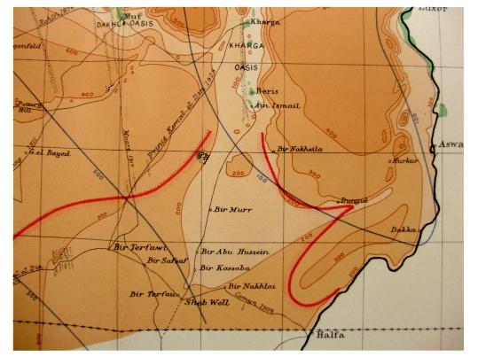 1927 John Ball LIBYAN DESERT Pottery Hill QATTARA Photos COLOR MAP Qattara Depression Map on